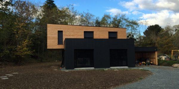 Maison ossature bois bardage Douglas